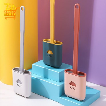 Silicone toilet brush with cute print